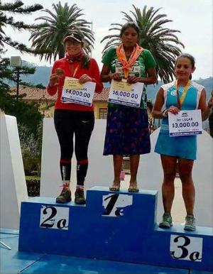 Ultra-Trail Cerro Rojo 50K - Podio femenino