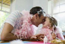 Papa y princesa felices
