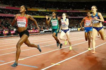 Kipyengon fly tu finish 1,500 m London 2017