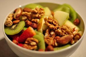 Frutas frescas y frutos secos