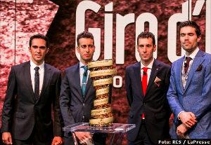 Contador, Dumoulin, Nibali y Aru