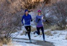 Corriendo en la montaña en Invierno