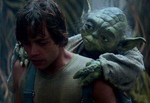 Yoda and Luke at Dagobah