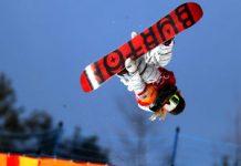 Chloe Kim (EUA) snowboard fly