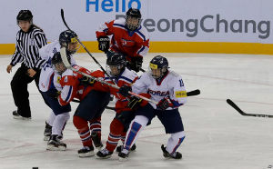 United hockey women team COREA