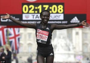 Mary Keitany - Maratón de Londres 2017