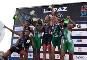 Triatlón La Paz 2018 - podio general