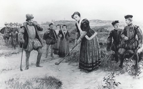 Maria I de Escocia jugando golf en St. Andrews