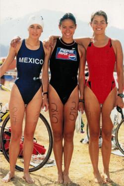 Vero Granados y amigas Triatlón Valle de Bravo 1991
