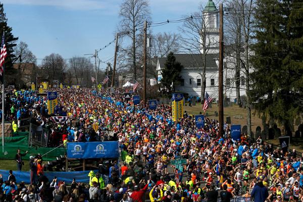 Boston Marathon Start at Hopkinton