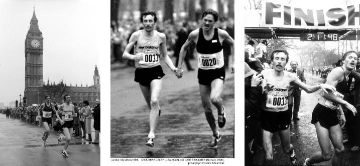 Dick Beardsley (33) e Inge Simonsen (20) ganan Primer Maratón de Londres 1981