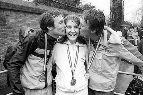 Dick Beardsley, Joyce Smith e Inge Simonsen - Ganadores del Maratón Londres 1981