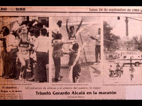Gerardo Alcalá - Maratón Ciudad de México 1984