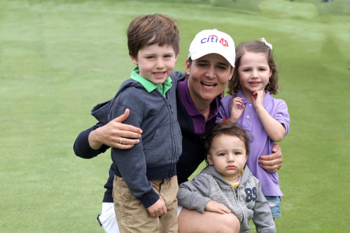 Lorena Ochoa y sus hijos