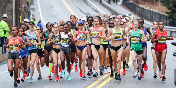 Boston Martahon Elite women run