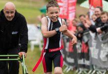 Bailey feliz - Castle Triathlon Series