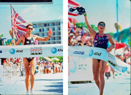 Simon Lesing y Karen Smyers - Campeonato Mundial de Triatlón Cancún 1995