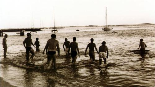 First IRONMAN swim start 1978