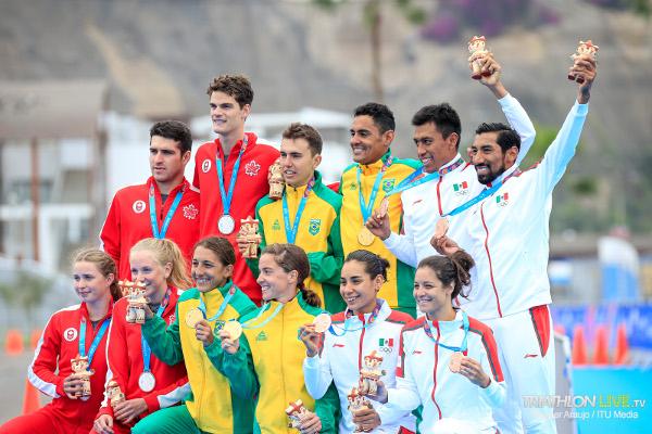 Podio Triatlón Relevos Mixtos Juegos Panamericanos Lima 2019
