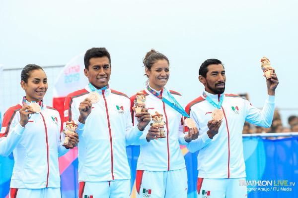Eq. México medalla de bronce Relevos Mixtos - Lima 2019