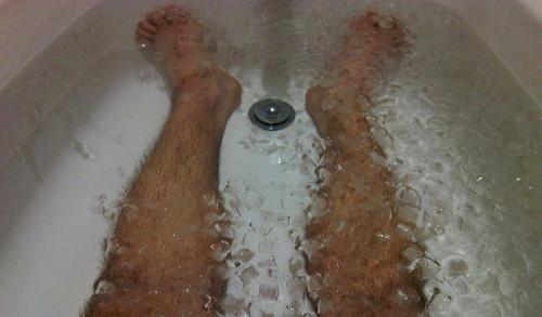 Baño en agua con hielos