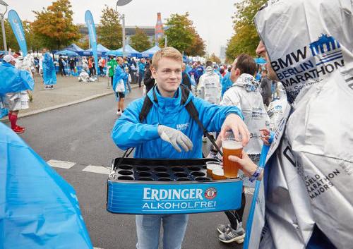 Cerveza SIN ALCOHOL en el Maratón de Berlín
