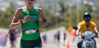 Corredora en triatlón