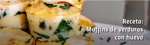 Receta: Muffins de verduras con huevo