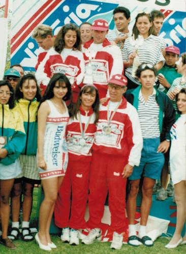 Triatlón Juriquilla 1992 - premiación por equipos