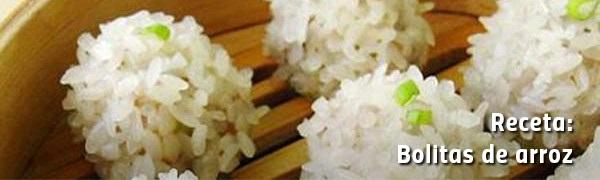Bolitas de arroz rellenas