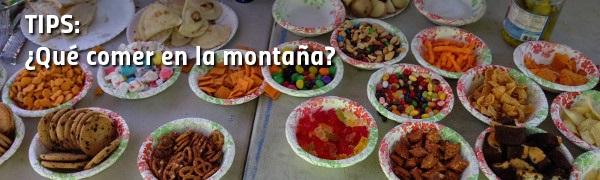 Tips: ¿Qué comer en la montaña?