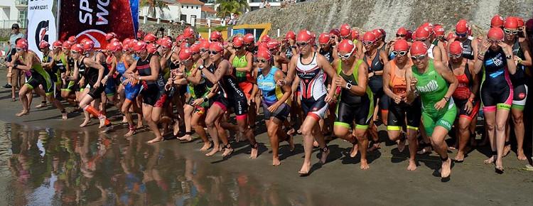 Arranque mujeres Triatlón Veracruz 2015