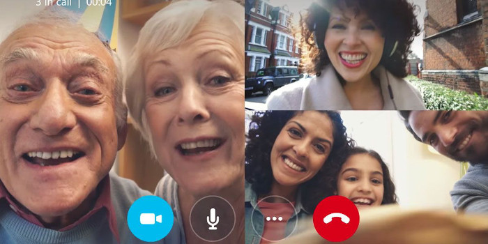 Videollamada familia
