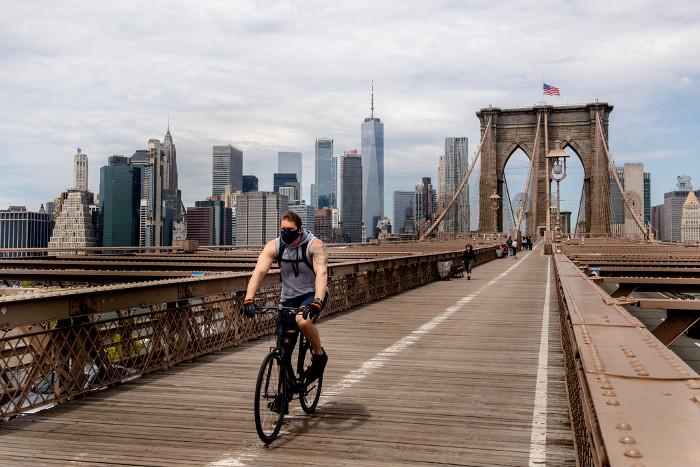 Ciclista en Nueva York