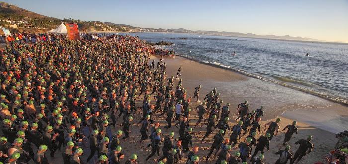 IRONMAN Los Cabos swim start