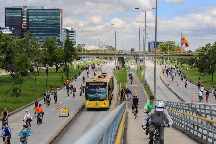 Ciclovía en Botogá, Colombia