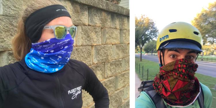 Corredores y ciclistas cubre nariz y boca