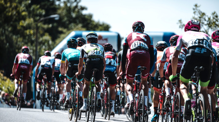 Pelotón ciclistas