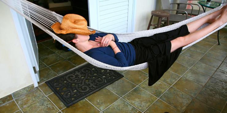 Duerme en hamaca