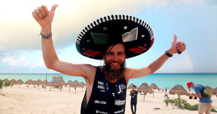 Diechmann lo logró: 5,000 km corriendo desde Tijuana hasta Cancún