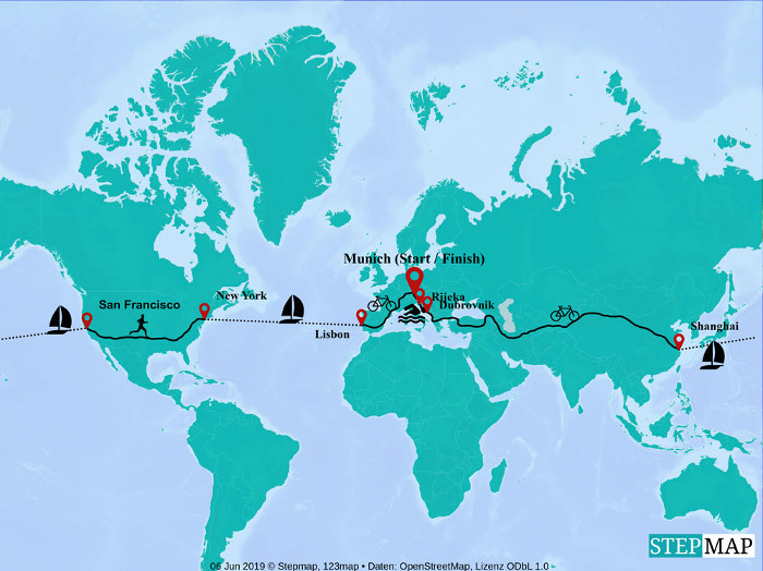 Mapa Triathlon 360 Degrees - Primer plan